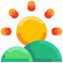 bright, bukeicon, summer, sun, sunlight icon