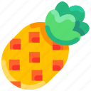 bukeicon, fruit, pineapple, summer, tropical