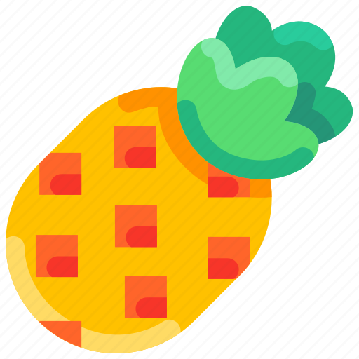 Bukeicon, fruit, pineapple, summer, tropical icon - Download on Iconfinder