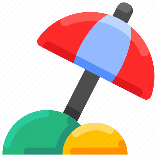Beach, bukeicon, summer, umbrella, vacation icon - Download on Iconfinder