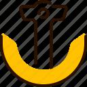 anchor, bukeicon, marine, nautical, ship, summer icon