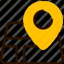 bukeicon, city, gps, location, map, navigation, summer