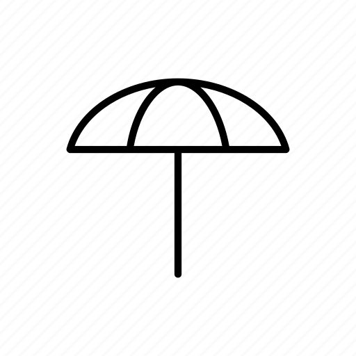 beach, summer, umbrella icon