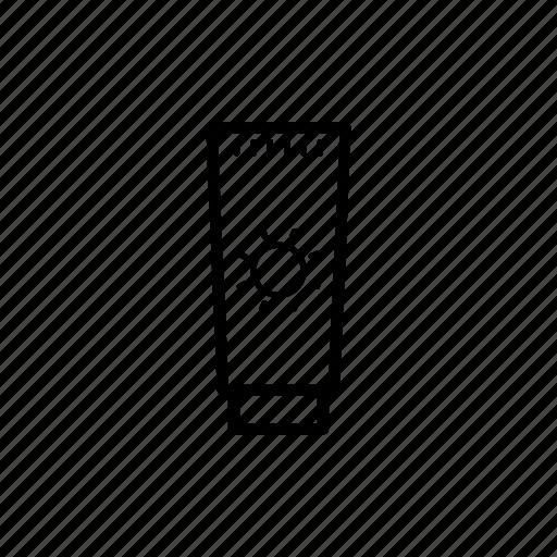 cream, summer, sun block icon