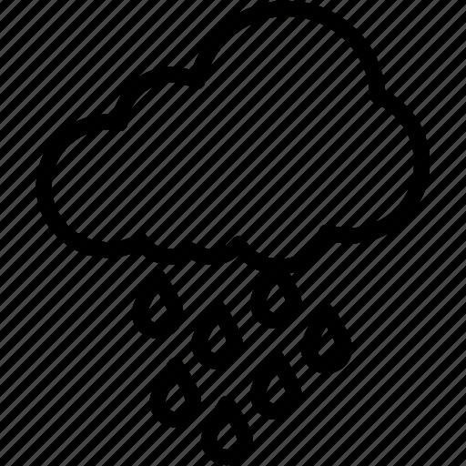 cloud, cloudy, drops, rain, raining, weather icon