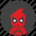 child, comics, deadpool, face, hero, mask