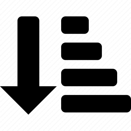 down, list, order, sort icon