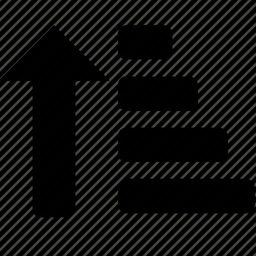 list, order, sort, up icon