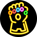 gauntlet, infinity, stone, superhero, villain icon