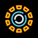 arc, power, reactor, superhero icon
