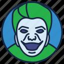 cartoon character, character marvel, jester, nicholson joker, superhero icon