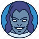 animated series, cartoon character, evil face, mystique, ravan icon