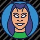 animated series, avenger mentis, cartoon character, evil face, mantis marvel, ravan icon
