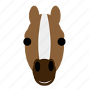 face, farm, happy, horse, stable, stallion, zoo icon