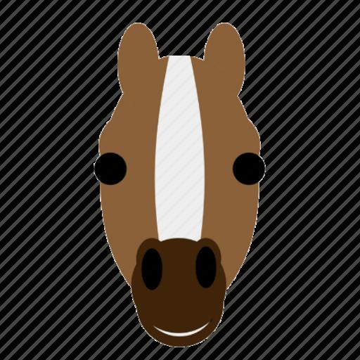face, farm, happy, horse, stable, stallion, zoo icon