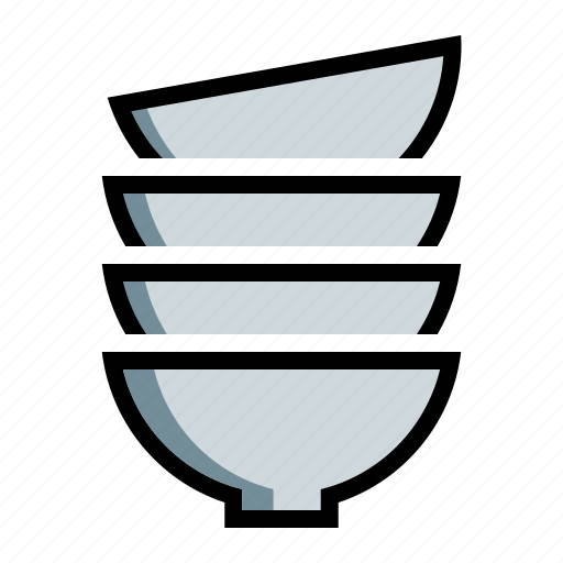bowls, dishes, plates, porcelain icon