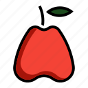 apple, food, fruit, water icon