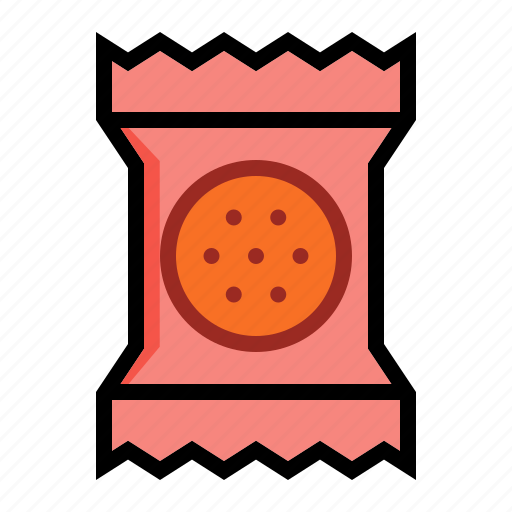 biscuit, cookie, cracker, food, packaged icon
