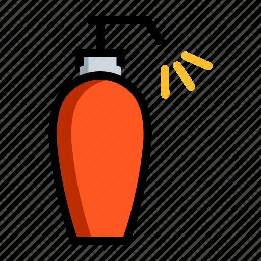 beauty, cosmetic, product, shampoo icon