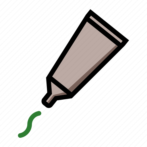 cosmetic, glue, hygienic, toothpaste icon