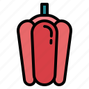 bell, organic, pepper, vegetable icon