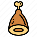 ham, leg, meat icon