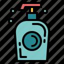 bathroom, liquid, soap, wash icon