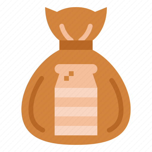 bag, bakery, bread, food icon