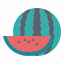 fruit, supermarket, vegetarian, watermelon icon