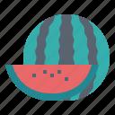 fruit, supermarket, vegetarian, watermelon icon