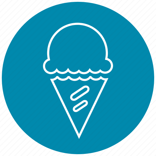cone, dessert, ice, ice cream, ice cream cone, snow, sweet icon