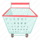 buy, cartoon, merchant, retail, sell, shopping cart, supermarket icon