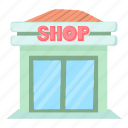 boutique, business, cartoon, front, market, retail, shop icon
