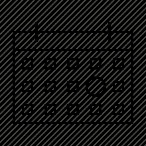 business, calendar, care, quality, service icon