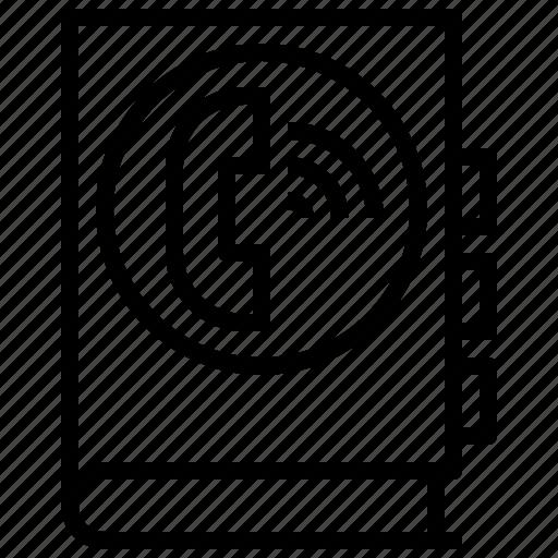 agenda, call, interface, phone, receiver, telephone, telephones icon