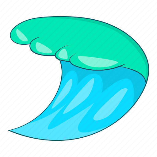 abstract, blue, cartoon, design, ocean, water, wave icon