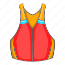 cartoon, clothing, design, jacket, life, safety, vest icon