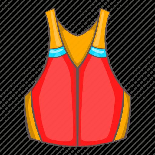 cartoon, clothing, design, jacket, life, safety, vest icon
