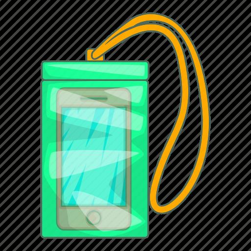 blue, cartoon, case, cell, design, phone, waterproof icon