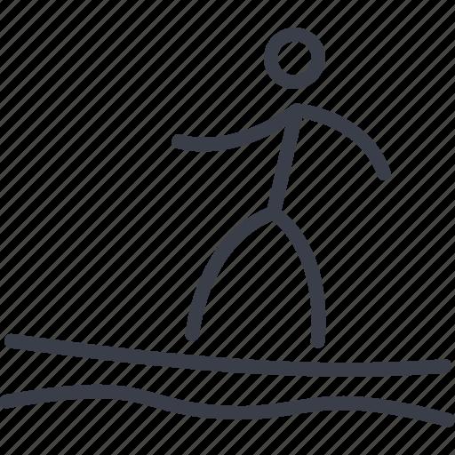 Athlete, boat, ocean, sun, surfboard, surfing, waves icon - Download on Iconfinder