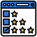 rating, feedback, customer, review, browser, star