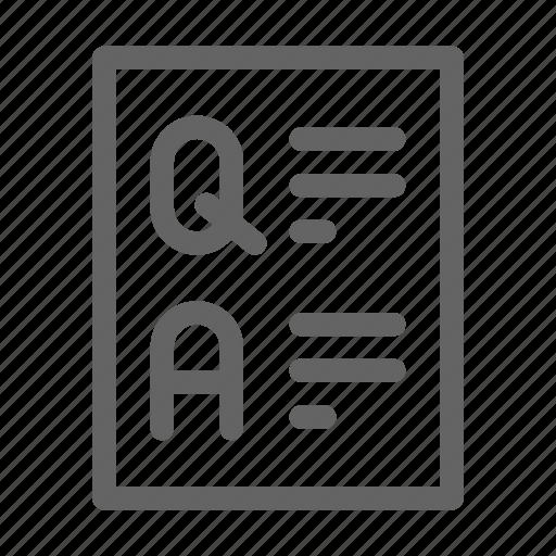 answer, faq, info, question icon