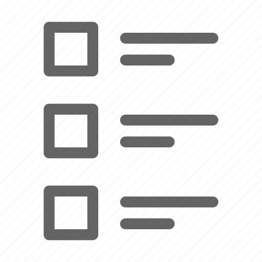 choice, feedback, list, review icon