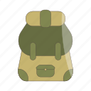 backpack, camping, bag, travel