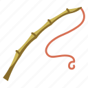fishing, rod, bamboo, fish, fisherman, equipment, hook