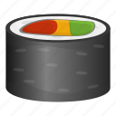 Diet Fish Food Roll Sushi Icon