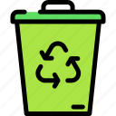bin, delete, recycle, remove icon