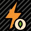 battery, bio, energy, power icon