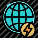 eco, energy, environment, power icon