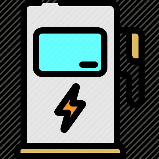 electric, fuel, gas icon
